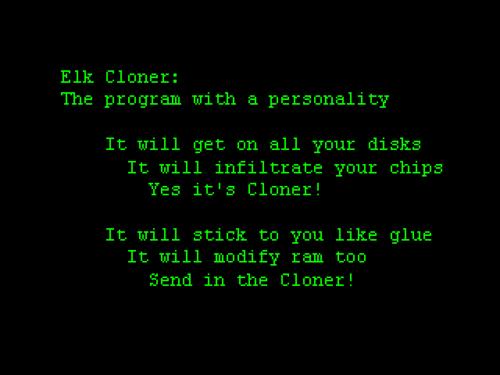 Elk Cloner Message