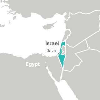 Gaza Israel Map